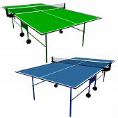 pic of ping pong  - Ping pong blue and green table tennis - JPG