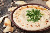 pic of pita  - Plate of hummus - JPG