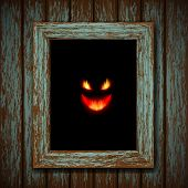 stock photo of lunate  - Ghost in the old window - JPG