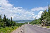 pic of trans  - Trans Canada highway along Superior Lake shore - JPG