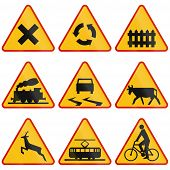 picture of railroad-sign  - Collection of Polish warning signs regarding intersections and crossings - JPG
