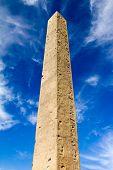 stock photo of obelisk  - Egyptian Monolith Obelisk in Central Park New York City - JPG