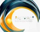 pic of slogan  - Vector swirl line abstract background - JPG