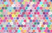 pic of hexagon pattern  - colorful hexagon background - JPG