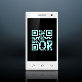 image of qr-code  - scanning qr code on the screen of your smartphone - JPG