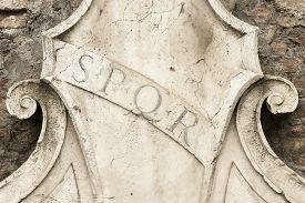 picture of spqr  - Rome - JPG