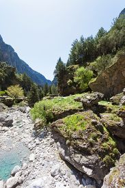 foto of samaria  - Hiking within the gigantic gorge of Samaria - JPG