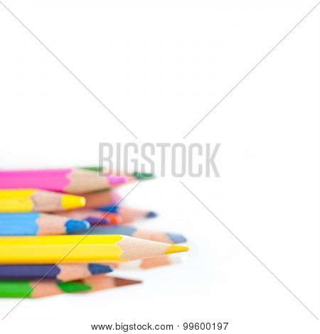Bright Wooden Colorful Pencils.