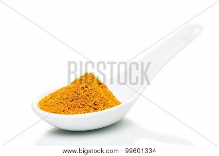 Curry Powder On A Spoon