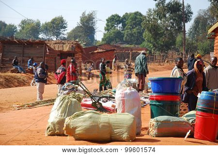 The Monthly Market In The Village Of Pomerini In Tanzania, Africa 518