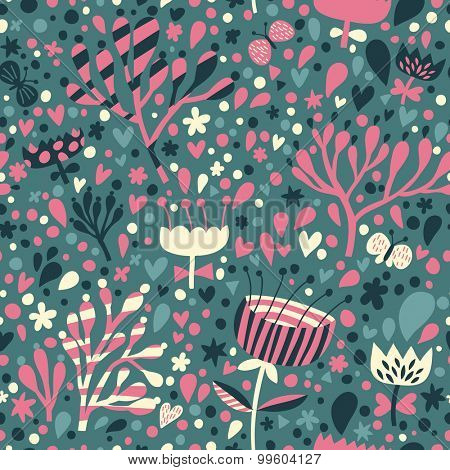 Lovely floral seamless pattern. Seamless pattern can be used for wallpaper, pattern fills, web page backgrounds, surface textures. Gorgeous seamless floral background