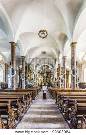 Famous Trunesco Abbey In Traunkirchen