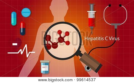 hcv hepatitis c virus liver disease health medical treatment