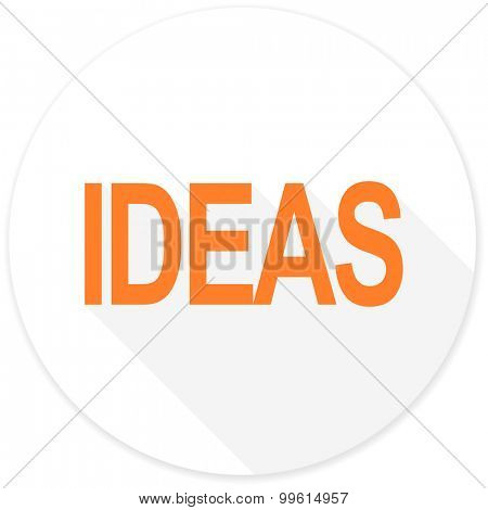 ideas flat design modern icon with long shadow for web and mobile app