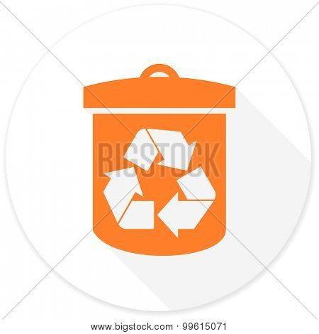 recycle flat design modern icon with long shadow for web and mobile app