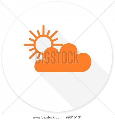 cloud flat design modern icon with long shadow for web and mobile app