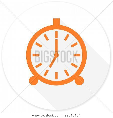 alarm flat design modern icon with long shadow for web and mobile app