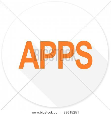 apps flat design modern icon with long shadow for web and mobile app