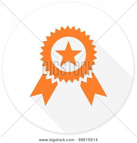 award flat design modern icon with long shadow for web and mobile app