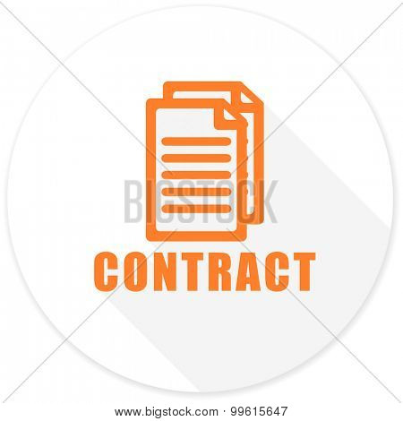 contract flat design modern icon with long shadow for web and mobile app