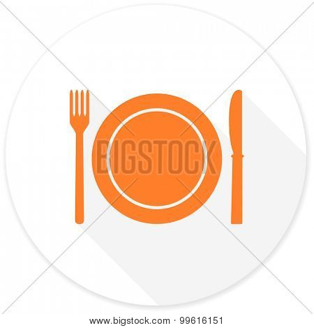 restaurant flat design modern icon with long shadow for web and mobile app