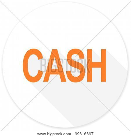 cash flat design modern icon with long shadow for web and mobile app