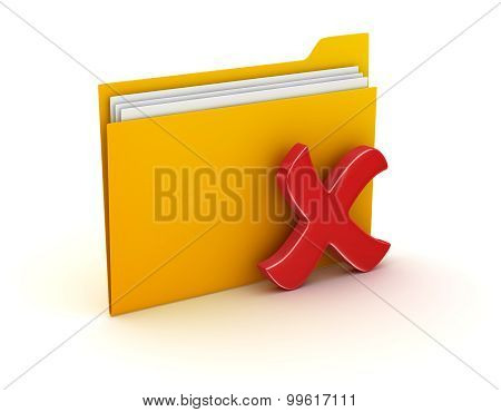 Folder And Delete Sign