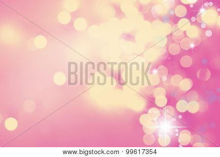 Circles abstract pink and yellow circles background