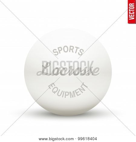 White Lacrosse ball. Vector
