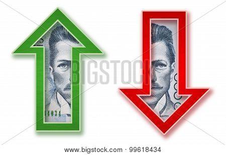 Colombian Money arrow