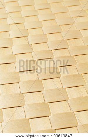 Woven Rattan Mat Texture Background