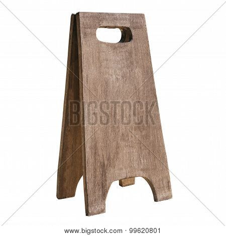 Mock Up Wooden Sign Board Isolated
