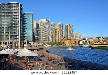 Circular Quay Restaurants & Bars Viewed From The Opera House