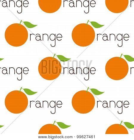 Pattern With Orange Logo
