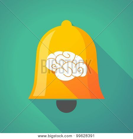 Bell Icon With A Brain