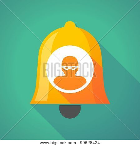 Bell Icon With A Thief