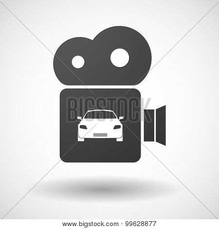 Cinema Camera Icon With A Car