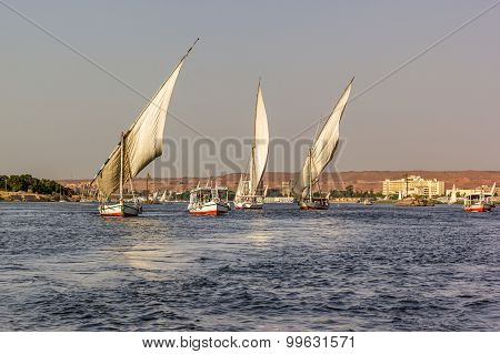 Nile With Boats
