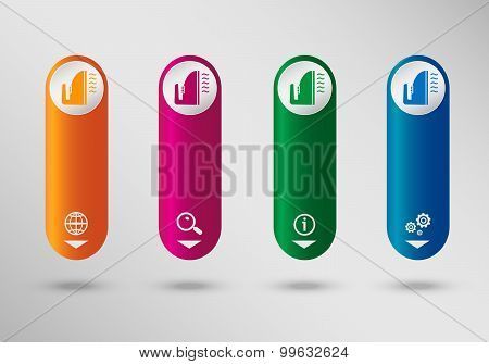 Iron Icon On Vertical Infographic Design Template, Can Be Used For Workflow Layout, Web Design.