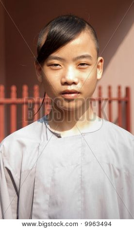 Buddhist vietnamese novice