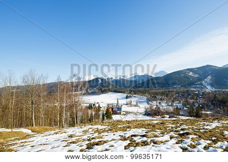Winter Landscape Around City Of Zakopane