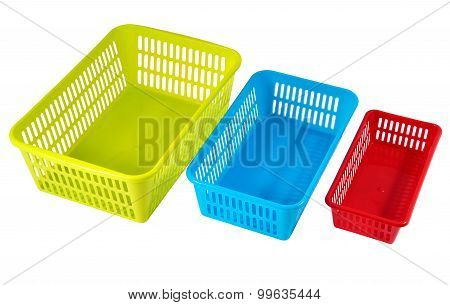 Household Storage Systems For Economic Use, Multi-colored Plastic Boxes.