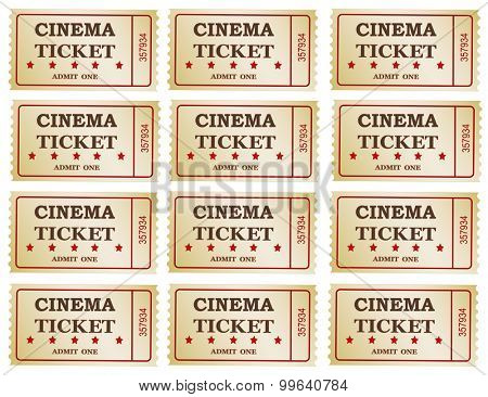 Cinema tickets -background, vector ,eps 10