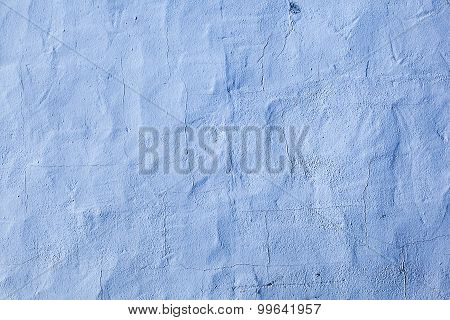 Blue Painted Old Concrete Wall