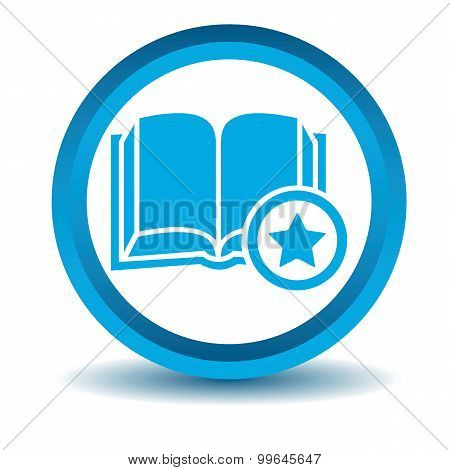 Favorite book icon, blue, 3D