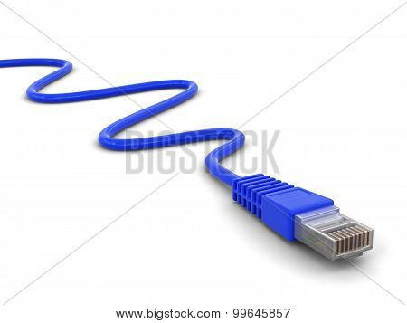 Computer Cable (clipping path included)