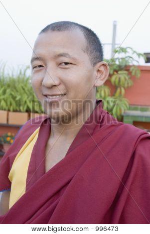 Portrait Of A Monk Smiling