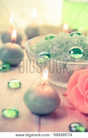 Spa Concept Salt Bath Scented Candles