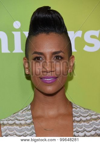 LOS ANGELES - AUG 12:  Dominique Tipper arrives to the arrives to the Summer 2015 TCA's - NBCUniversal  on August 12, 2015 in Beverly Hills, CA