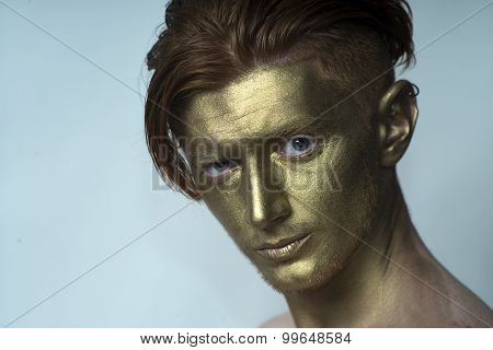 Portrait Of Golden Man